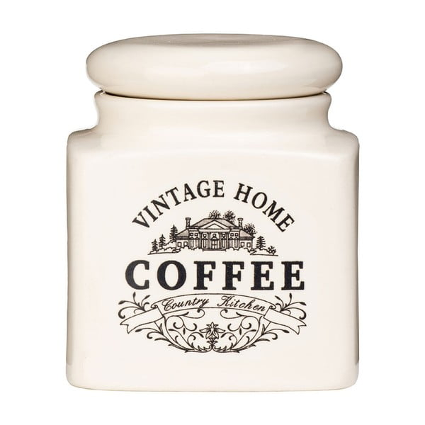 Recipient ceramică cafea Premier Housewares Vintage Home, crem