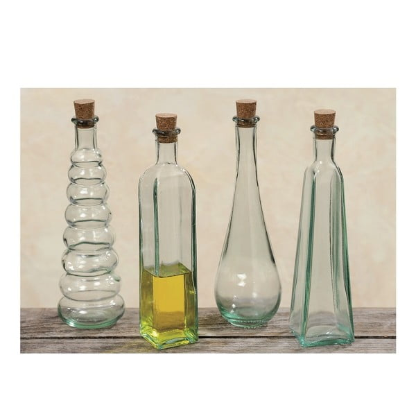 Sada 4 dekorativních lahviček Bottles