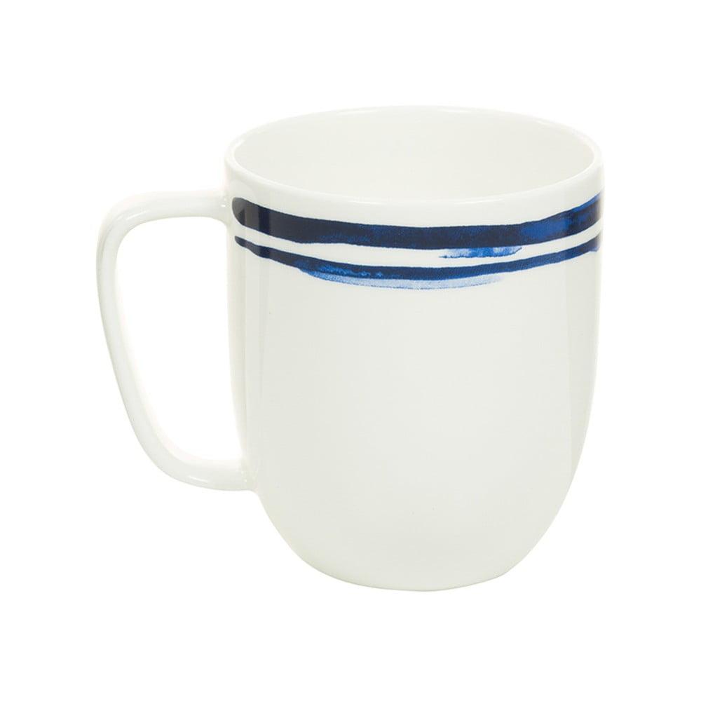 Bílomodrý porcelánový hrneček Santiago Pons Line, 380 ml