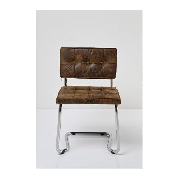 Hnědá židle Kare Design Vintage