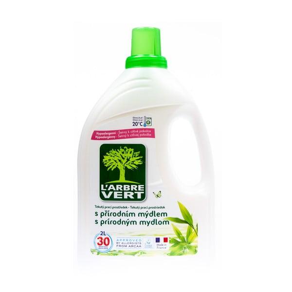 Ekologiczny żel do prania z naturalnym mydłem, L´Arbre Vert, 2 l