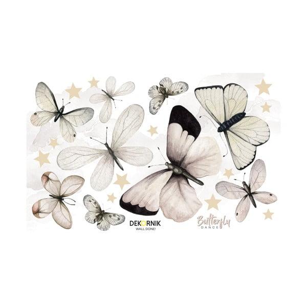 Sada nástěnných samolepek ve tvaru motýlů Dekornik, 110 x 70 cn