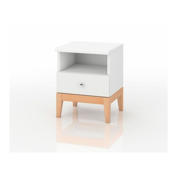 Noční stolek z masivního borovicového dřeva SKANDICA Livia 1S Plus