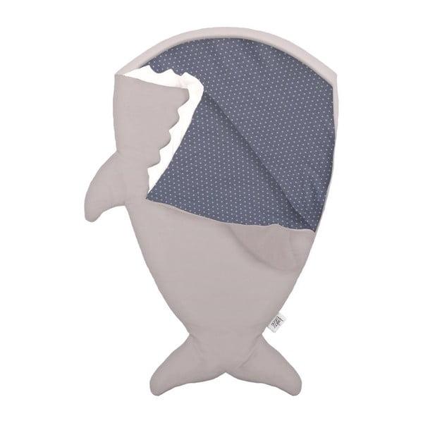 Dětský spací vak Grey Fish with Blue Stars