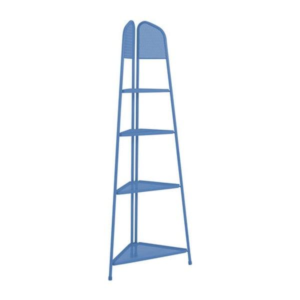 Etajeră metalică pe colț pentru balcon ADDU MWH, înălțime 180 cm, albastru