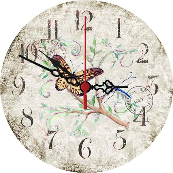 Nástěnné hodiny Butterfly, 30 cm