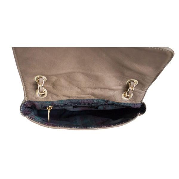 Kožená kabelka Valentina Taupe