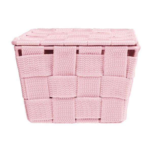Růžový košík s víkem Wenko Adria