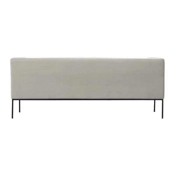 Béžová sametová třímístná pohovka Windsor & Co Sofas Neptune