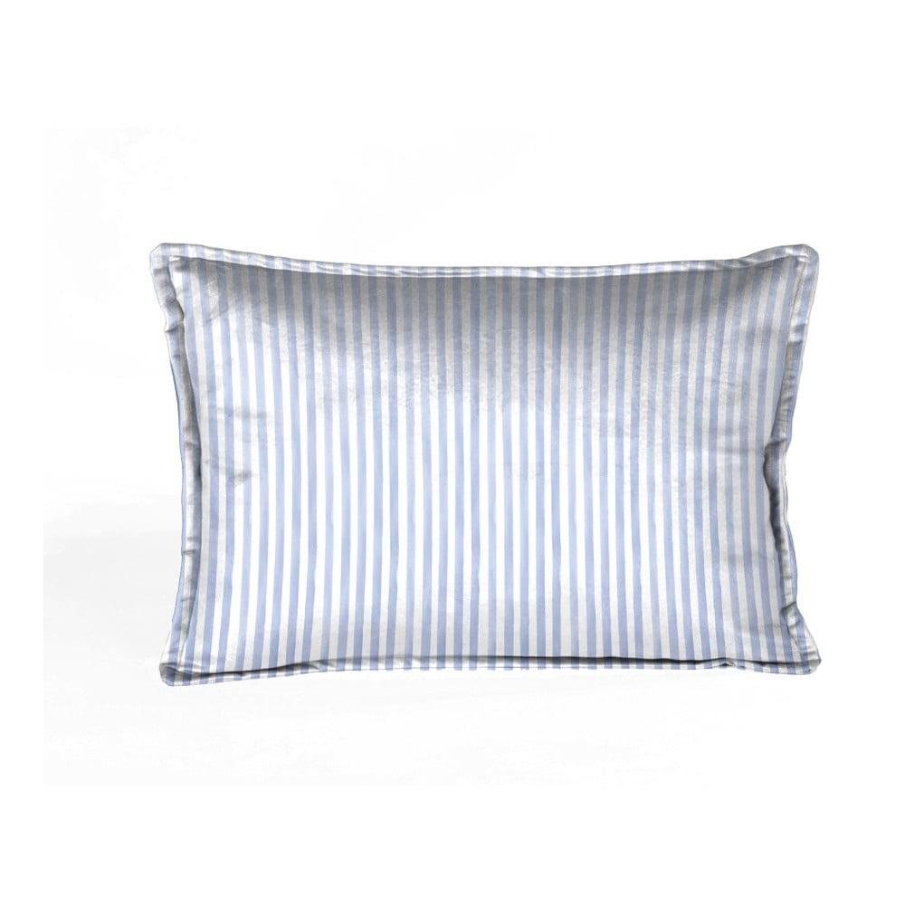Modrý dekorativní polštář Velvet Atelier, 50 x 35 cm