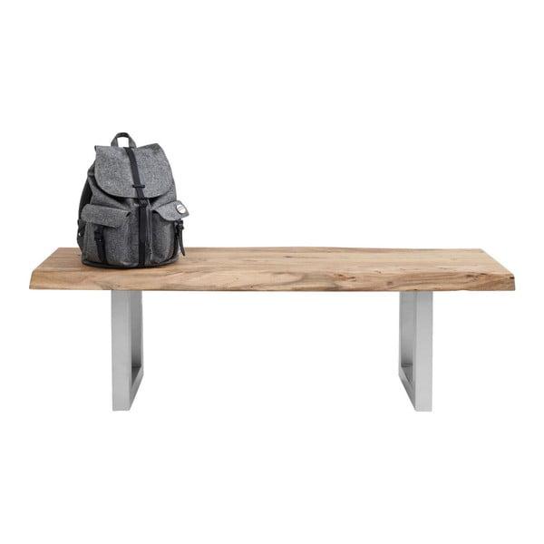 Lavice s deskou z akáciového dřeva Kare Design Nature, 140x45cm