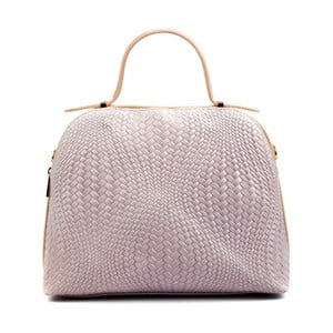 Růžová kožená kabelka Isabella Rhea Julia
