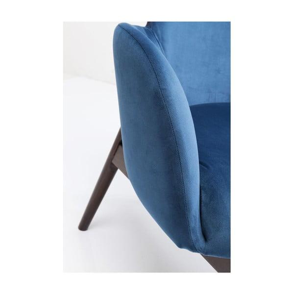 Modré křeslo ušák Kare Design Aroha Velvet