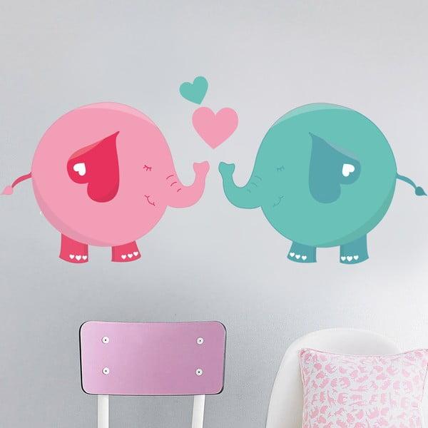 Samolepka na stěnu Sloní láska, 50x70 cm