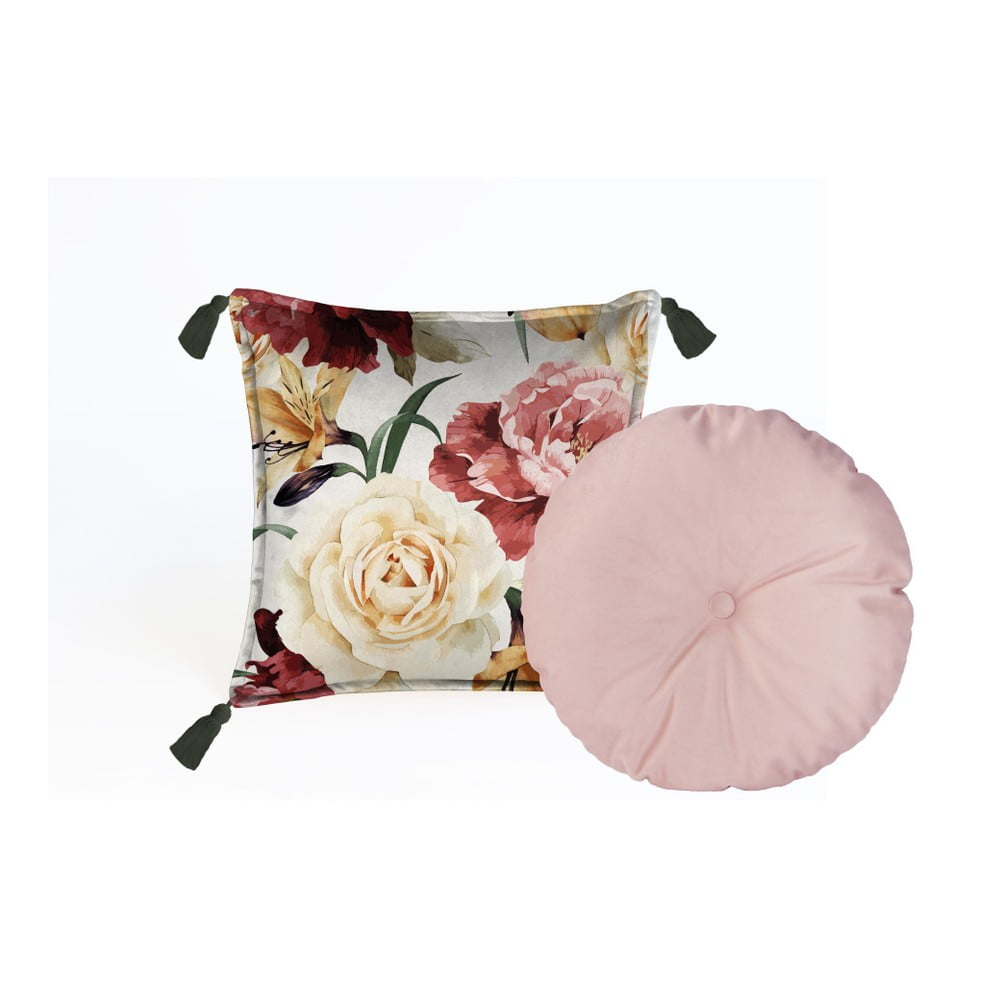 Sada 2 dekorativních polštářů Velvet Atelier Wendy, 45 x 45 cm
