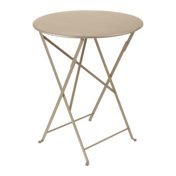 Béžový zahradní stolek Fermob Bistro, Ø 60 cm