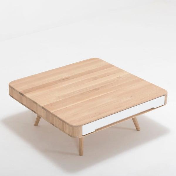 Măsuță din lemn de stejar Gazzda Ena Club, 90 x 90 x 35 cm
