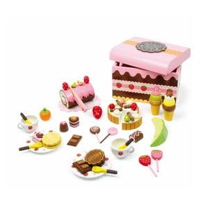 Cutie plină cu dulciuri din lemn Legler Sweeties, 39 bucăți