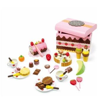 Cutie plină cu dulciuri din lemn Legler Sweeties imagine