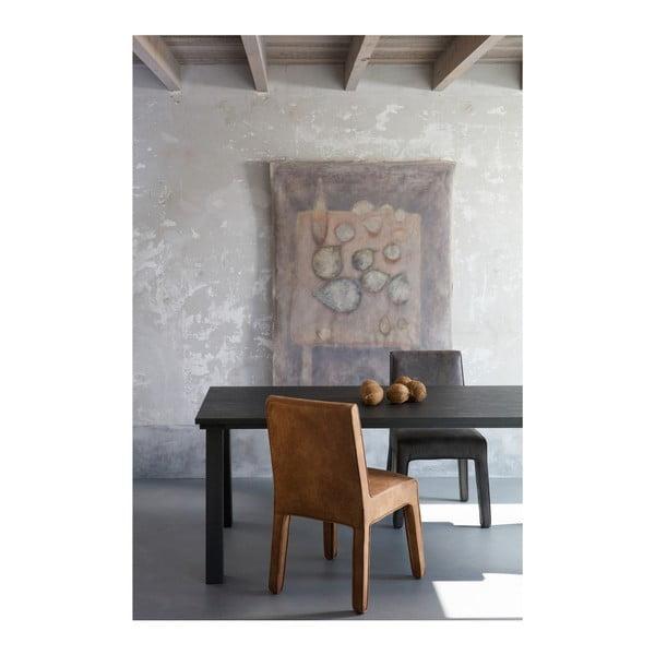 Sada 2 černých kožených židlí De Eekhoorn Cocoon