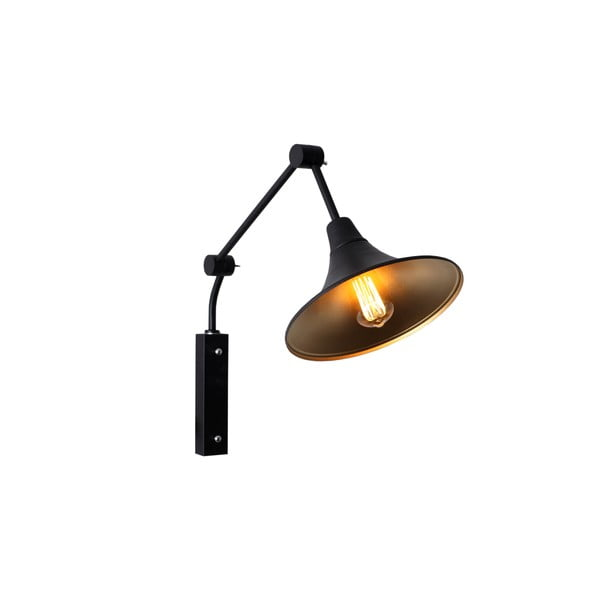 Čierna nástenná lampa Custom Form Miller