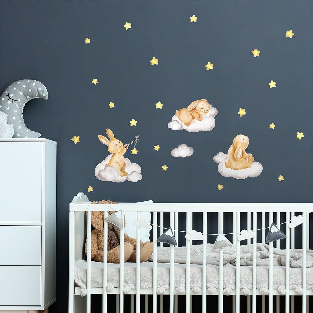 Dětské samolepky na zeď Ambiance Rabbits Magic