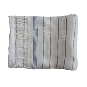 Modro-bílá ručně tkaná osuška z prémiové bavlny Homemania Bodrum Hammam,100x180 cm