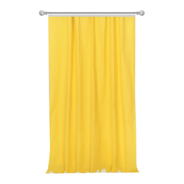Żółta zasłona Apolena Simply Yellow, 170x270 cm