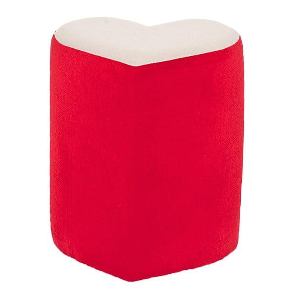 Červený srdcový puf Herbie