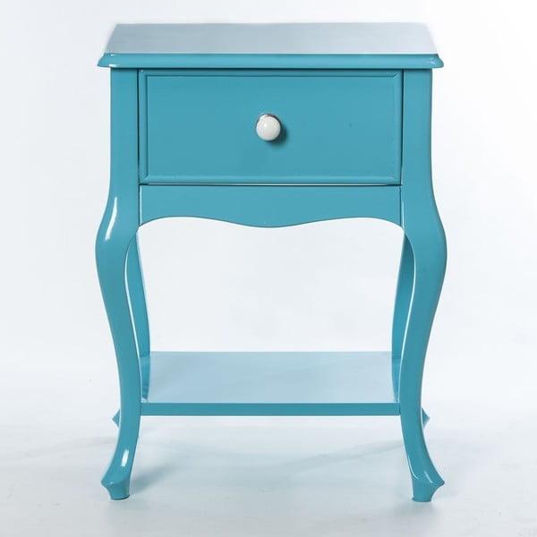 Odkládací stolek Purl Turquoise, 44x33x60 cm
