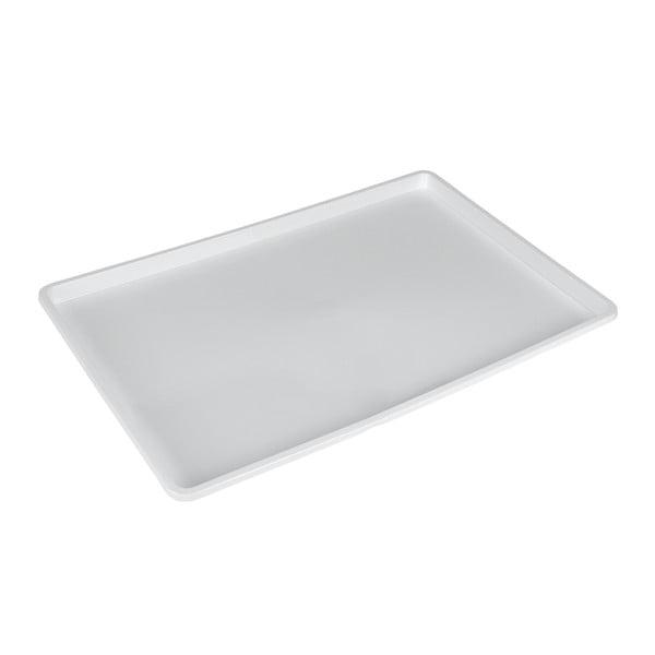 Bílý plastový podnos Metaltex Germatex, 45 x 31 cm