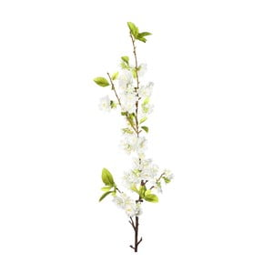 Umělá květina s bílými květy Ixia Pear Tree, výška114cm