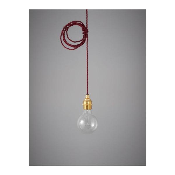 Závěsný kabel Brass Burgundy Red