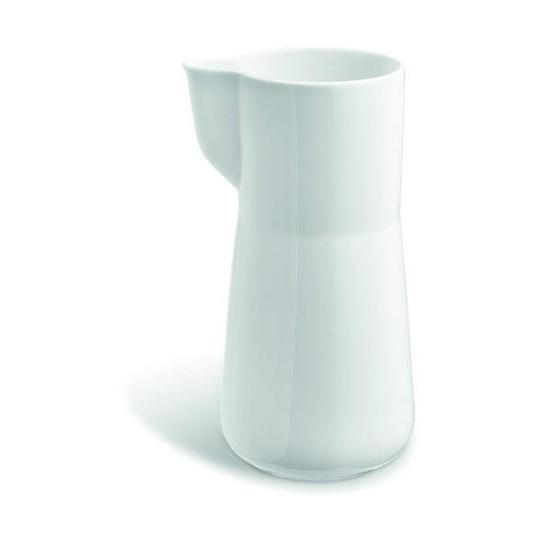 Biela nádoba na mlieko z kostného porcelánu Kähler Design Kaolin, 1 l