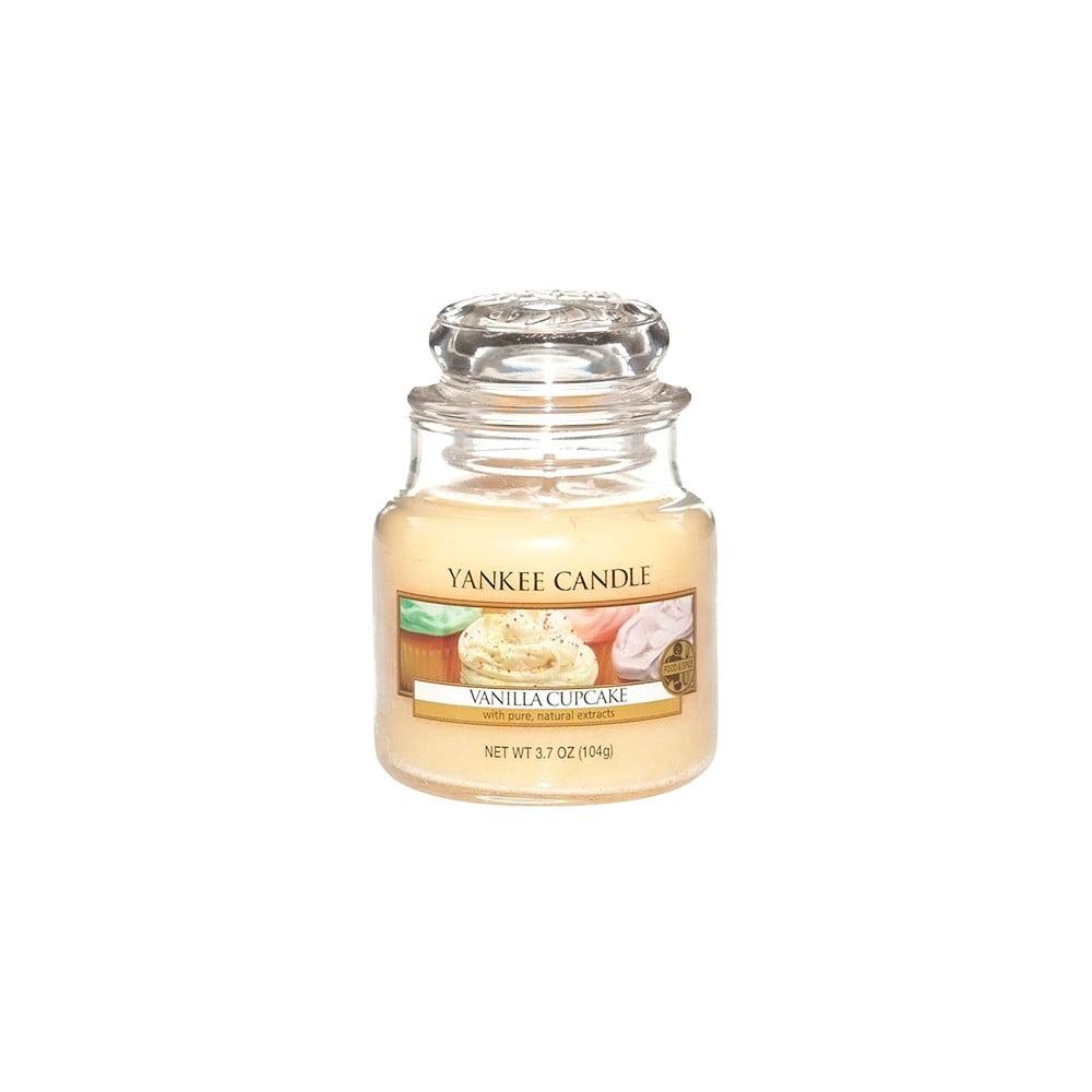 Vonná svíčka Yankee Candle Vanilkový Košíček, doba hoření 25 - 40 hodin