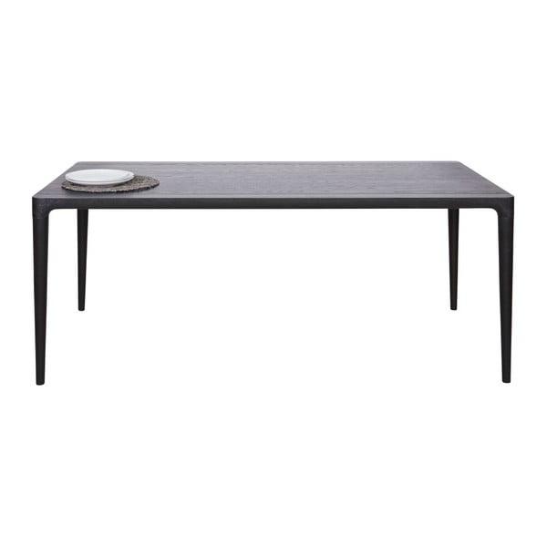Černý jídelní stůl De Eekhoorn Troy,90x180cm