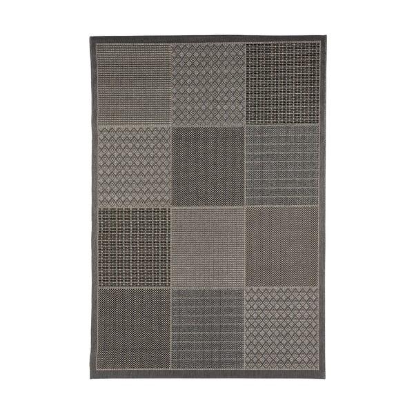 Covor foarte rezistent Floorita Quadrotta Grey, 135 x 190 cm
