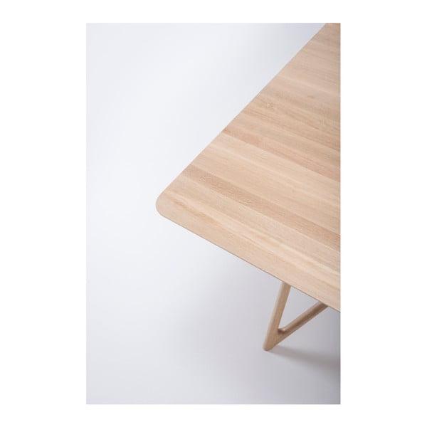Jídelní stůl z masivního dubového dřeva Gazzda Tink, 220x90cm