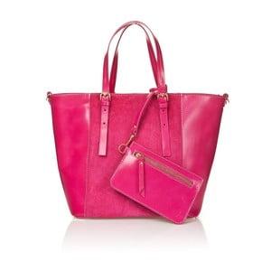 Kožená kabelka Luna, růžová