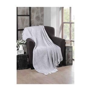 Světle šedá bavlněná deka Chauffe,130x170cm