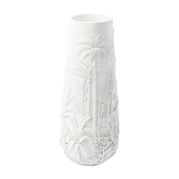 Bílá váza Kare Design Jungle White, výška 83 cm