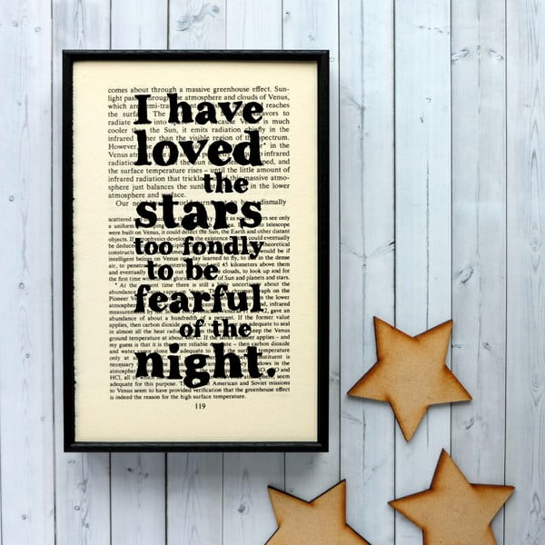 Plakát v dřevěném rámu Loved the Stars Cosmos