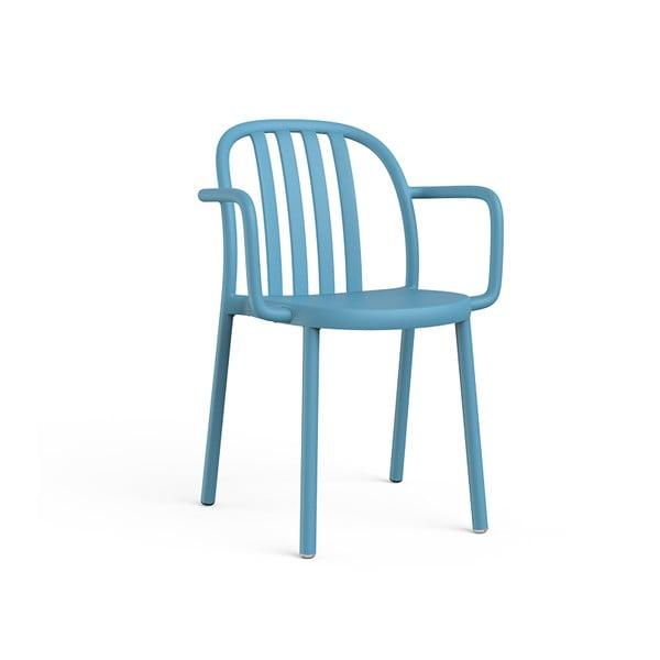 Zestaw 2 niebieskich krzeseł ogrodowych z podłokietnikami Resol Sue