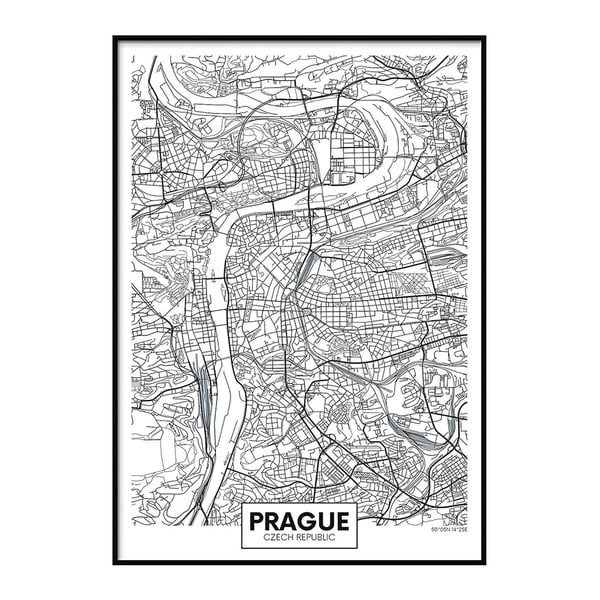 Plakát DecoKing Map Prague, 70 x 50 cm
