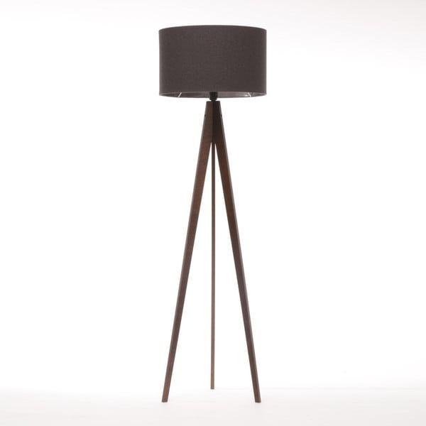 Černá stojací lampa 4room Artist, hnědá lakovaná bříza, 150 cm