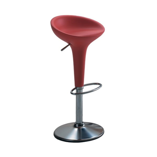 Červená barová židle Magis Bombo, výška 50/74cm
