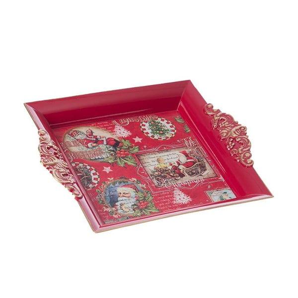 Plastový tác Merry Xmas, 23x19 cm