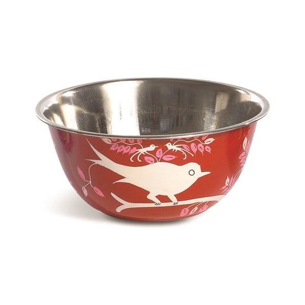 Miska Eva Hand Painted Bowl, červená