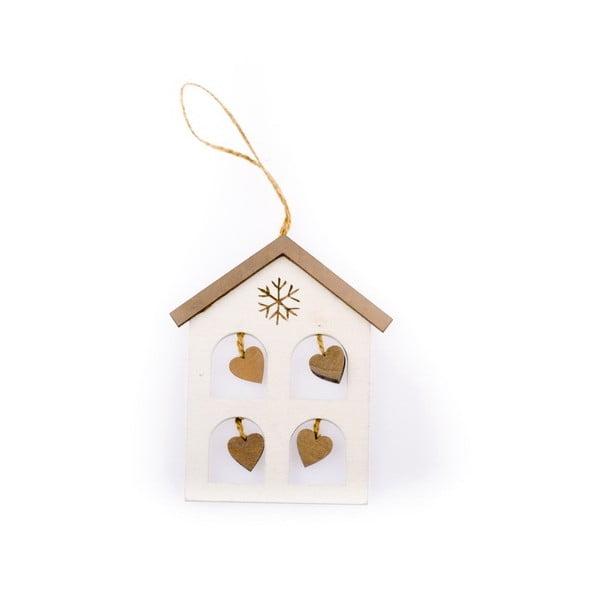 Závěsná vánoční dekorace ve tvaru domku Dakls Madeline