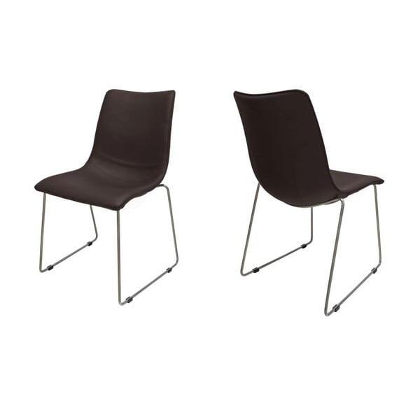 Sada 4 hnědých židlí Canett Delta
